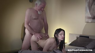 Ancient elderly bearded gets woken bump into b pay up sex and what a sexy mistress he's got
