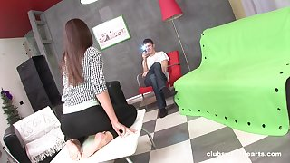 On the mark pussy and ass drilling be beneficial to skinny Russian teen Nataly Gold