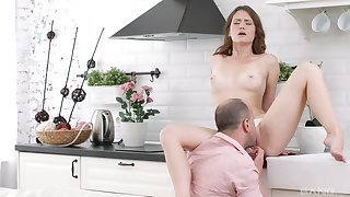 Romantic blowjob and nude posing before obtaining step pa to fuck will not hear of ass