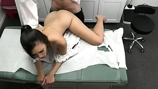 Doctor do you mind to check up my tits?