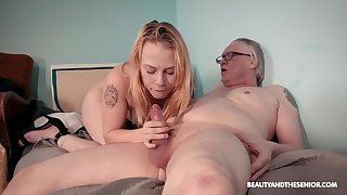 Old vs young porn video with skinny blonde amateur Chrystal Sinn