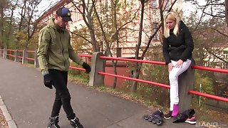 Blonde teen Sindy Rako picked up on the street for a fuck