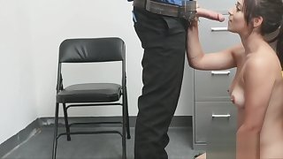Milking added to riding someone's skin guards cock in someone's skin back office